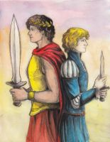 Damianos of Akielos and Laurent of Vere by AnotherStranger-Me