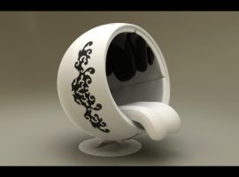 Ball chair tribal by djreko
