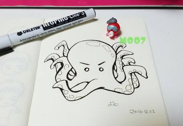 A doodle a day - octopus! by Merc007
