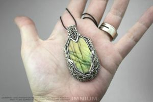 Green Borg pendant - it is THIS big! :D by IMNIUM