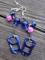 upcycled earrings by kickthebucket