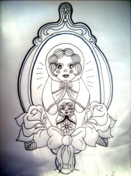 Russian Doll Tattoo Design by AmyLouiseZombie