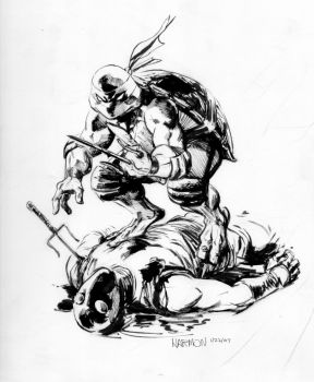 tales tmnt 36 raw cover art by dogmeatsausage