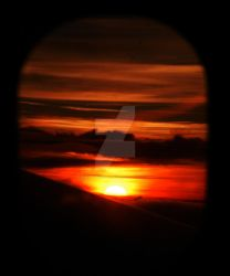 Sunset from the Plane by theXtopherproject