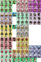 [PRIVATE] All Characters by Rayquaza-dot