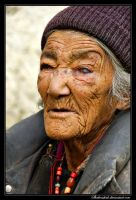 Old Ladakhi woman by Shahenshah