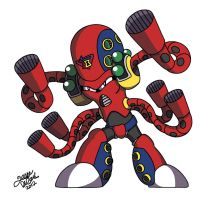 Mega Man X: Launch Octopus by JesseDuRona