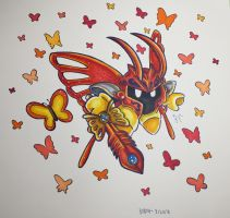 Morpho Knight (Beta Knight) by Blackvivillion