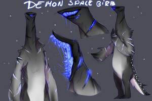 Demon space birb auction closed by ElkaArt