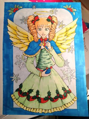 Angel Christmas Card by desbrina