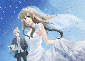 APH:ReaderxGilbert- Wedding Reception: Chapter Two by ElectricMomo