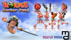 Worms Pointers - Cursors by PassionisArt