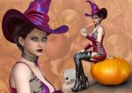 The Witch and the Pumpkin by Ladesire