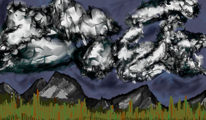 Mountain Scape by SmoochiLuci