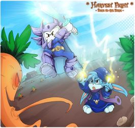 Commission - Harvest Fight by Exarrdian