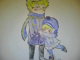 Chibi Sweden and Sealand by girfan18