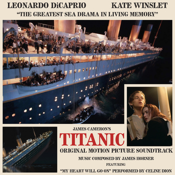 Titanic soundtrack custom album art (James Horner) by TimeyWimey-007