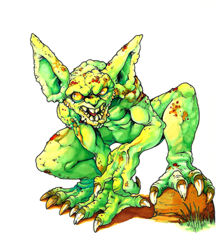 Green creature by GTK666