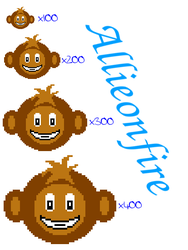 My first pixel monkey, Manny. by Allieonfire