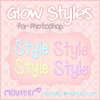 Glow Styles for Photoshop by MayteKr