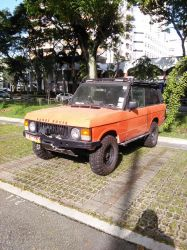 Orange Range Rover Classic by Amgnismo