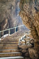 Cave Stairs Stock by little-spacey