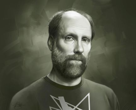 Digital Painting: Doug Martsch Portrait by timothysmithdesign