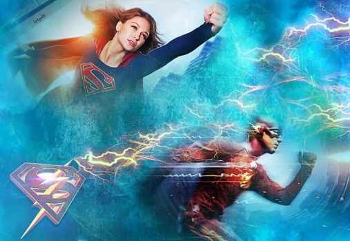 Supergirl The Flash wallpaper by letydb