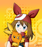May and Torchic - Pokemon by Seiryu6