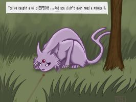 Espeon, basically a psychic cat. by DrawingBookwormLife