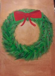 Christmas wreath  by TaitGallery
