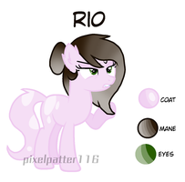 Mlp oc: Rio by pixelpatter116