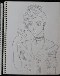 Miss Pan WIP -pre scan- by JedsOtherPoem