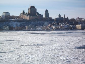 Frontenac and ice canoe by LounaZ