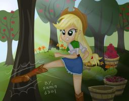 Applejack - kick by sumin6301