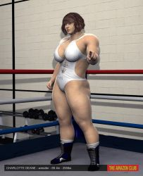 Charlotte Deane - female pro wrestler - 02 by theamazonclub