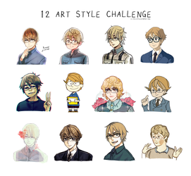 Artstyle Challenge!! by Cioccolatodorima