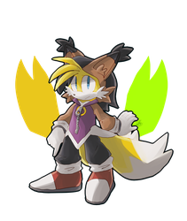 Tails as Nicole by TheDarkShadow1990