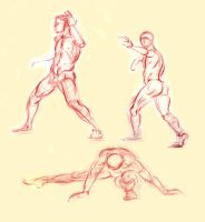April 2009 Figure Studies by Kathy-B