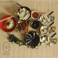 1:3 scale miniature Japanese Foods for SGDC2014 by Snowfern