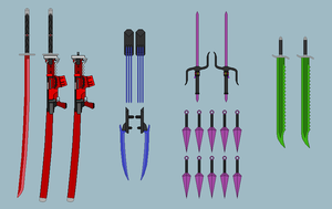 White Fang Elite 4 Weapons by RyuRyugami