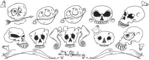 the skulls by porch