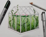Little Greenhouse by CosmosKitty
