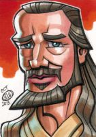 Qui-Gon Jinn Sketch Card by Chad73