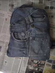 backpack from old denim. front view by yashesh