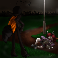 Shadowed Man Commission by ScittyKitty