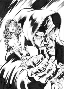 wonder woman and doctor doom by ReneMicheletti