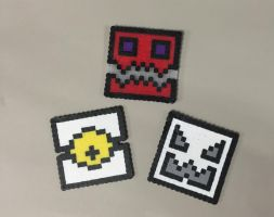 Perler bead Geometry Dash icons by Manakete-Queen