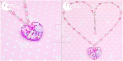 Sweet time melody Necklace by CuteMoonbunny