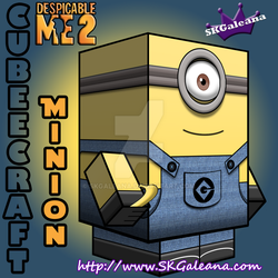 Despicable Me Minion with One eye 3D by SKGaleana